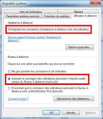 autoriser bureau a distance contrôler à distance windows sans logiciel supplémentaire