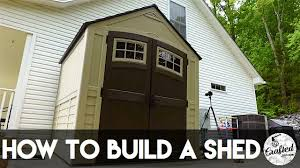 how to assemble a shed suncast sutton crafted workshop youtube