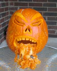 Puking Pumpkin Pattern Free by Drunk Pumpkins Alcoholic Pumpkin Carving