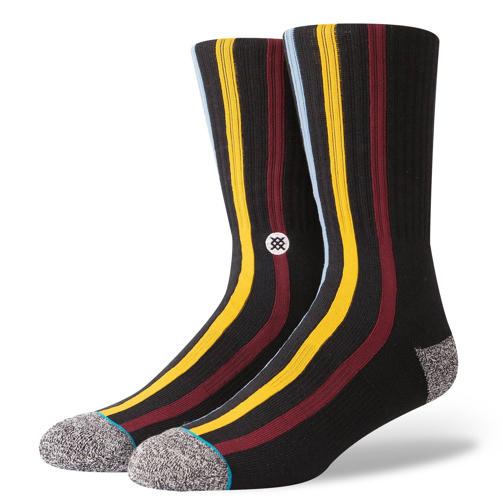 Stance Palm Fire Mens Sock Black M