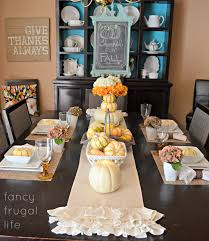 Dining Room Table Decorating Ideas For Fall by My Fancy Frugal Fall Table Setting