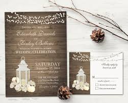Rustic Lantern Wedding Invitations Set For Your Rustic Wedding