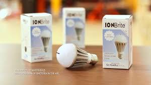 ion brite anion led air purification light bulb