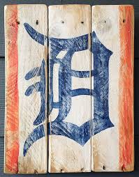 The ORIGINAL Old English D Sign Detroit Tigers Vintage Looking Pallet Wood