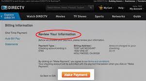 MyAccount DIRECTV Account Confirmation