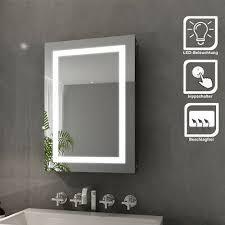 led spiegelschrank bad edelstahl badezimmer spiegelschrank mit beleuchtung 50 cm