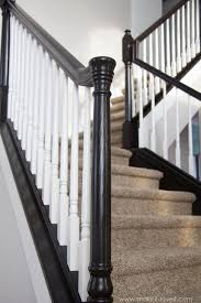 DIY: How To Stain And Paint An OAK Banister, Spindles, And Newel ... Java Gel Stain Banister Diy Projects Pinterest Gel Remodelaholic Stair Makeover Using How To A Angies List My Humongous Stairs Fail Kiss My Make Wood Stairs Treads For Cheap Simply Swider Stair Railing Cobalts House Staircase Reveal Cut The Craft Updating A Painted With An Ugly Oak Dark All Things Thrifty 30 Staing Filling Holes And
