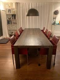 designer tisch holz 8 kff lederstühle kaufen auf ricardo