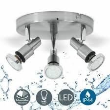 details zu led badle deckenle ip44 strahler badezimmer 3 flammig decken leuchte le
