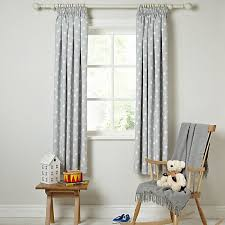Buy little home at John Lewis Star Pencil Pleat Blackout Lined Curtains line at johnlewis