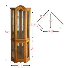 Coaster Curio Cabinet Assembly Instructions by Southern Enterprises Dahley Golden Oak Lighted Corner Curio