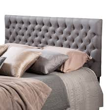 bolton button tufted headboard queen full gray christopher knight