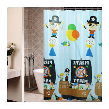 blue Pirate shower curtain Pirate Shower Curtain For Kids