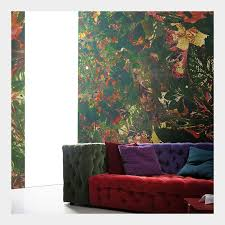florale tapete schwarz grün kaufen wohnzimmer tapeten shop