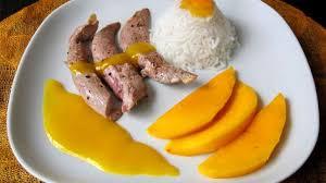 cuisiner les aiguillettes de canard aiguillettes de canard à la mangue recette par ma cuisine santé