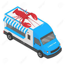 100 Lobster Truck Shop Icon Isometric Of Shop Icon