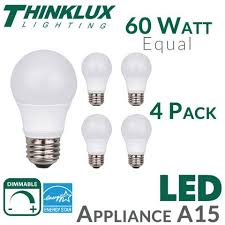 a15 appliance led light bulb 60 watt equal earthled