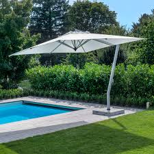 Large Fim Cantilever Patio Umbrella by Distinctive Offset Patio Umbrella Aluminum Acrylic Swiveling P