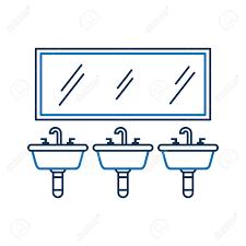 drei waschbecken spiegel für wc badezimmer ausrüstung