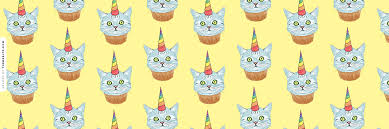 Rainbow Unicorn Cupcake Cat Twitter Header