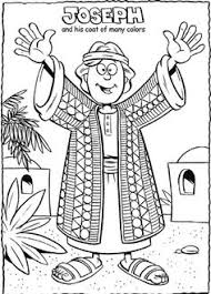 Joseph Coat Of Colors Coloring Sheet