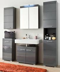 bad möbel set hochglanz grau badezimmer komplett einrichtung