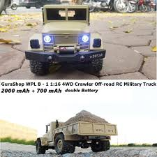 Promo WPL B - 1 1:16 Mini Off-road RC Military Truck RTR 4WD 2.4Ghz ... Szjjx Rc Cars Rock Offroad Racing Vehicle Crawler Truck 24ghz Remote Control Electric 4wd Car 118 Scale Jual Rc Offroad Monster Anti Air Mobil Beli Bigfoot Off Road 24 Amazoncom Radio Aibay Rampage Bigfoot Best Toys For Kids City Us Big Red 6x6 Mud Action By Insane Will Blow You Choice Products Toy 24g 20kmh High Speed Climbing Trucks I Would Really Say That This Is Tops On My List
