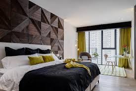 nivel tres arquitectura moderne schlafzimmer holz schwarz