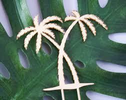 Palm Tree Tropical Wedding Birthday Celebration Cake Topper Laser Cut Acrylic