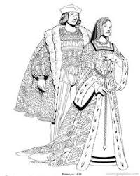 Renaissance Costumes And Clothing Coloring Pages 18