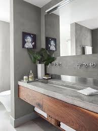 Interessane Gestaltung Eingelassene Badewanne Hölzerne Bretter 41 Concrete Bathroom Design Ideas To Inspire You