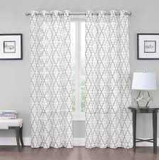 Blue Crushed Voile Curtains by Amazon Com 2 Pack Kendall Luxurious Trellis Crushed Grommet