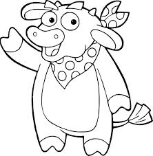 Coloriage Vache Dora Lexploratrice à Imprimer