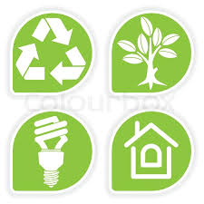 Collect sticker with environment icon tree leaf light bulb and