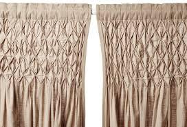 Smocked Burlap Curtain Panels by Smocked Burlap Curtains Get The Look Smocked Burlap Curtains
