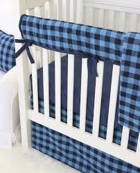 Navy And Coral Crib Bedding by Brice U0027s Navy Buffalo Check Bumperless Crib Bedding Caden Lane