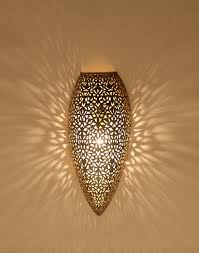 moroccan antique brass wall light with floral design moroccan bazaar