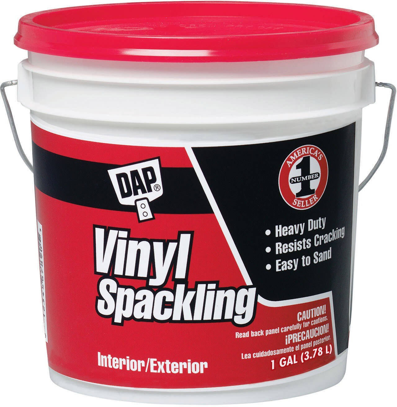 Dap All Purpose Vinyl Spackle Interior-Exterior Concrete Patcher - 1 Gallon, White