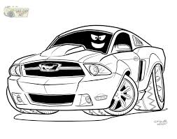 Mustang Car Coloring Page Pages Prints And Colors