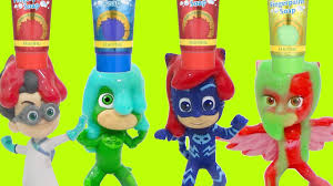 pj masks bath tub time finger paint soap colors orbeez toy