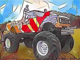 Monster Truck Abstract Drawing Stock Photo, Picture And Royalty Free ...