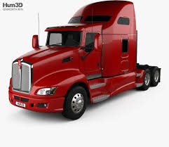 100 Tractor Truck Kenworth T660 2008 3D Model Vehicles On Hum3D