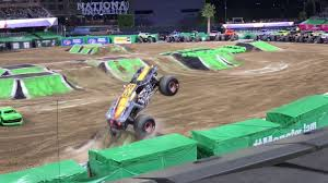 100 Monster Truck Show San Diego Jam 2018 TWO WHEEL SKILLS COMPETITION Freestyle 1