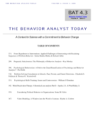 PDF The Paradigmatic Behaviorism Theory Of