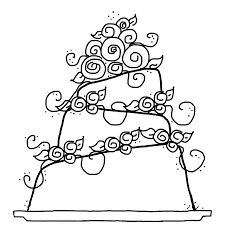Extraordinary Wedding Cake Coloring Pages With Free And Disney