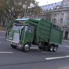 Garbage Truck 2 - 3ds / Obj - Extended License 3D Game Models : OBJ ...