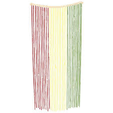 Bamboo Beaded Door Curtains Painted by High Quality Bamboo Doorway Beaded Curtains Rasta Coloured