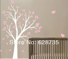 Perfect Design Girls Room Wall Art High Quality 130 X180 Cm Large Tree And Birds Vinyl