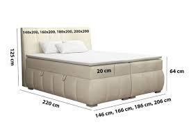 kaspian boxspringbett schlafzimmer 140 160 180 200x200 cm doppelbett mit bettkästen