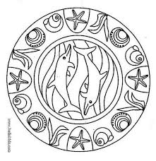 You Will Love To Color A Nice Coloring Page Enjoy This Dolphin Mandala Animal PagesOcean